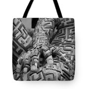 A Maze Ing Man 4 Black And White Tote Bag