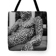 A Maze Ing Man 5 Black And White Tote Bag