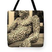 A Maze Ing Man 5 Sepia Tote Bag