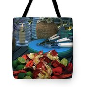 A Meal With Lobster And Limes Tote Bag