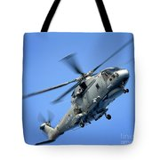 A Merlin Helicopter Tote Bag