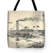 A Mississippi Steamer Off St Louis From American Notes By Charles Dickens  Tote Bag by EH Fitchew