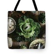 A Mixed Variety Of Food And Ceramic Imitations Tote Bag