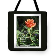 A Moment Of Patience Tote Bag