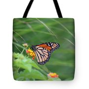 A Monarch Butterfly At Rest Tote Bag