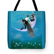 A Moon Cat  Tote Bag