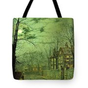 A Moonlit Road Tote Bag