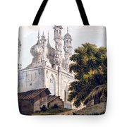 A Mosque At Gazipoor Tote Bag by William Hodges