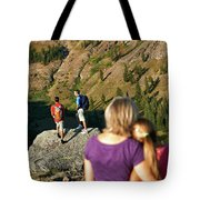 A Mother And Daughter Share A Tender Tote Bag