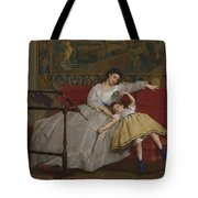 A Mother And Her Young Daughter Tote Bag
