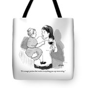 A Mother Explains To Her Young Daughter Who Tote Bag
