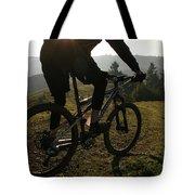 A Mountain Biker Makes His Final Tote Bag