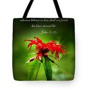 A Mountain Flower  John 3 16 Tote Bag