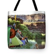 A Multi-generational Family Of Boaters Tote Bag
