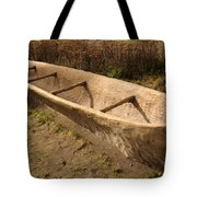 A Native American Fishing Boat Tote Bag