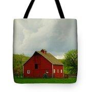 A Neat Red Barn Near Sheridan Wyoming Tote Bag