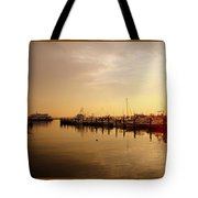 A New Day Beings On The Water - Atlantic Highlands  - Nj Tote Bag