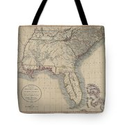 A New Map Of Part Of The United States Of North America Tote Bag
