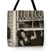 A New Orleans Greeting Sepia Tote Bag