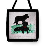 A Newfoundland Dog And A Labrador Retriever Tote Bag