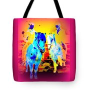 A Nice Ride On The Furry Ponies  Tote Bag