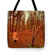 A November Stroll Through Formby Woods Tote Bag