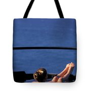 A Nude Woman In A Hot Spring Tote Bag