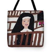 A Nun In Prayer Tote Bag