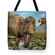 A Pack Of Tyrannosaurus Rex Dinosaurs Tote Bag