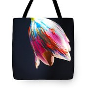A Painted Tullip In Shadows Tote Bag