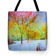 A Painted Winter Tote Bag