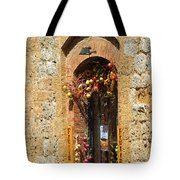 A Painting A Tuscan Shop Doorway Tote Bag