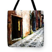 A Painting An Italian Street Tote Bag