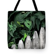 A Painting Fence And Leaves Dali-style Tote Bag