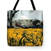 A Painting Jefferson Memorial Dali-style Tote Bag