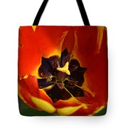 A Painting Red Tulip Tote Bag