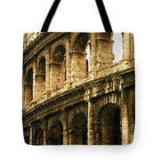 A Painting The Colosseum Tote Bag