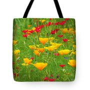 A Painting Tuscan Poppies Tote Bag