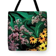 A Painting Wild Flowers Dali-style Tote Bag
