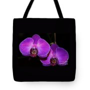 A Pair Of Purple Orchids From Bermuda Tote Bag