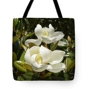 A Pair Of Southern Magnolia Blossoms Tote Bag