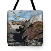 A Pair Of Triceratops Trapped Tote Bag