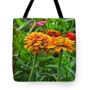 A Pair Of Yellow Zinnias 03 Tote Bag