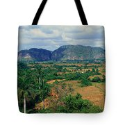 A Panoramic View Of The Valle De Tote Bag