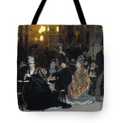 A Parisian Cafe Tote Bag by Ilya Efimovich Repin