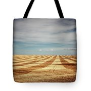 A Pattern Of Stripes Across A Farmers Tote Bag