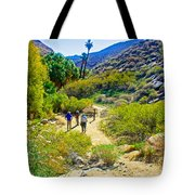 A Pause On Lower Palm Canyon Trail In Indian Canyons Near Palm Springs-california Tote Bag