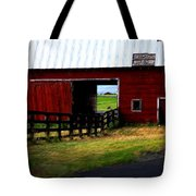 A Peaceful Day With A Barn Tote Bag by Christine Burdine