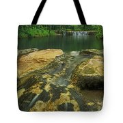 A Peaceful Early Morning At Little Niagra Waterfall A Tote Bag