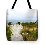 A Peaceful Respite By The Shore Tote Bag